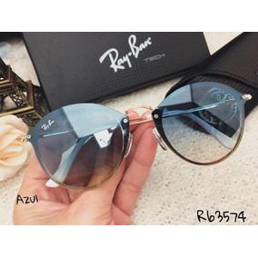 Óculos De Sol Ray-ban Round Blaze + Manual + Brinde + Case · R  229 90 e6bece555d