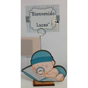 25 Souvenirs Y Central Nacimiento Varon Personalizados