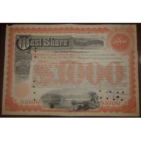 Eua 1953 Ação Da Empresa West Shore Railroad Company