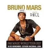 Entradas Concierto Bruno Mars . Cancha 1, 2, 3 ..