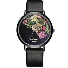 Reloj Para Dama Mujer Baosali Original Acero Inox