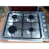 Cocina Tope Frigilux Gas Acero Inox 4 Hornillas