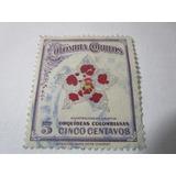 Colombia Correos Orquideas Colombianas 5c Estampilla L6