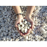 Piedra Roca Marmol Blanca Partida Por 25 Kg Jardines