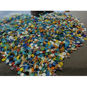 Mix De 300 Pastilhas Coloridas 2x2 Para Mosaico