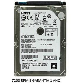 Hd Notebook 750gb 7200 Rpm Toshiba Samsung Seagate 7500gb