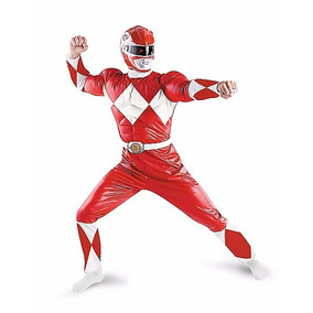 Adult Muscle Red Ranger Costume - Power Rangers