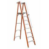 Escalera Fibra Plataforma 4 Pasos / 1.2 Mts 114 Kg