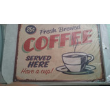 Cartel Vintage De Metal Coffe