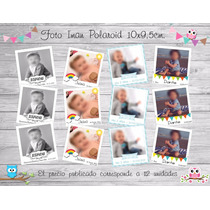 Foto Iman Polaroid, Souvenirs Tamaño 10x9,5cm - 12 Unid