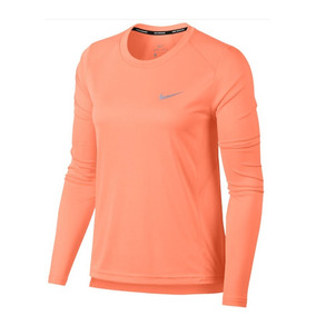 Camisa Manga Longa Nike Miler Top Feminina Lr Original