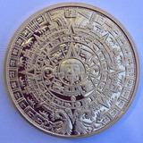 Moneda Medalla Souvenir Alusiva A Los Mayas Banada En Oro