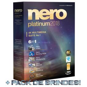 Nero Platinum 2018.v10.1 Licença Original +content Pack 1&2