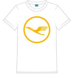 Camiseta Masculina C/ Logo Lufthansa Airline Company