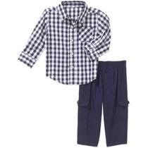 Camisa Pantalón Americano Talla Rn, 0-3,3-6,12 Envio Gratis