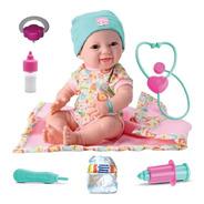 Bebe New Born  Reborn Dengo Maternidade Mamadeira + 10 Itens