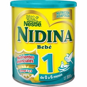 6 Latas Leche Nidina Numero 1 En Polvo X 800 Grs Por Bulto