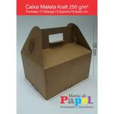 Caixa Tipo Maleta Kraft 250 G - Pcte C/ 20 Unid
