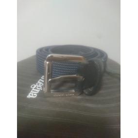 Ermenegildo Zegna Cinturón De Tela Azul Marino