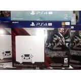 Consola Ps4 Pro 1 Tera Blanca 4k Edición Destiny 2