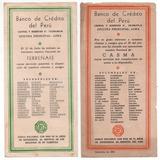 Banco De Credito Del Peru -cartillas Informativas Sucursales