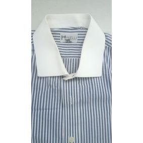 Camisa Minelli 100% Algodão Semi-nova Bicolor