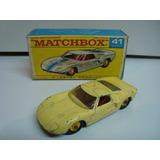 Matchbox N°41 Ford Gt 40 Reg Wheels Amarillo Raro Sin Caja