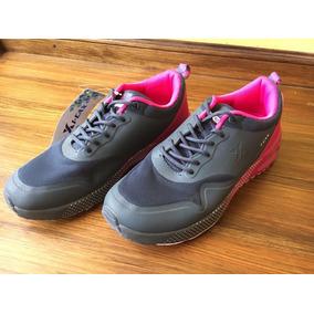 Zapatillas Marca Icax Talle 38 Y 39, Gris Y Fucsia. Nuevas