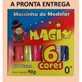 10 Cx Massinha De Modelar Magix 6 Cores 90 G Atacado