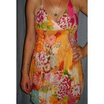 Excelente Vestido Verano Playero - Bambula - T. M