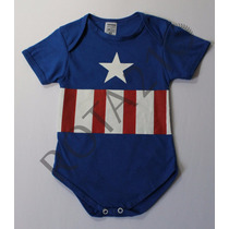 Body Infantil Capitão América Super Herois