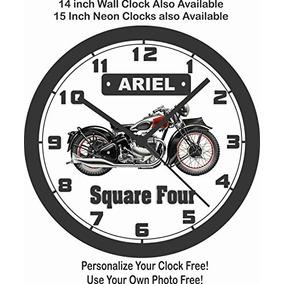 Ariel Praça Quatro Clássica Motocicleta Relógio De Parede