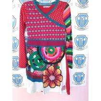 Vestido Desigual Importado, 11/12 Anos Sem Defeito Original