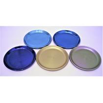 6 Porta Vasos Aluminio Anodizado Vintage 9cm