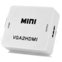 Adaptador Cable Conversor Vga A Hdmi Video Audio Full Hd