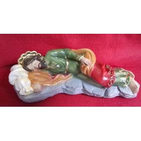 Imagem São José Dormindo Do Papa Escultura 20cm Original