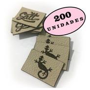 Etiqueta Sintético Sua Marca 200 Unid Personalizado C/ Logo