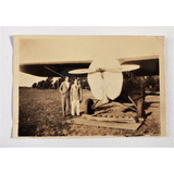 Antigua Fotografia De Avion Y Hombres Argentina Circa 1925