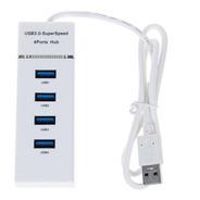 Hub 4 Multi Puertos Usb 3.0 Luz Led Cable 30 Cm Windows, Mac