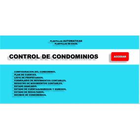 Control De Condominios En Excel+ Libro De Excel