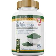 Alga Espirulina Pura Premium 100 Capsulas 500mg