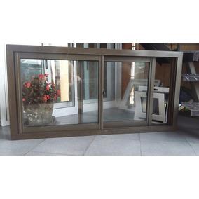 Ventana aluminio color bronce aberturas ventanas de for Ventanas de aluminio color bronce