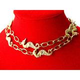 Collar/gargantilla Antiguo/caballitos De Mar