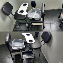 Kit Manicure-cirandinha+cadeira Fixa+bacia+carrinho+apoio Pé