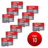 Sandisk Memorias Tarjeta Micro Sd 32gb Ultra X Mayor 10 Unds