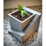 Vaso Impresso Em 3d P/ Suculentas E Mini Cactos Pack Triplo
