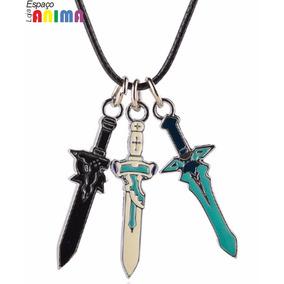Colar Espadas Kirito Asuna Sao Sword Art Online Anime
