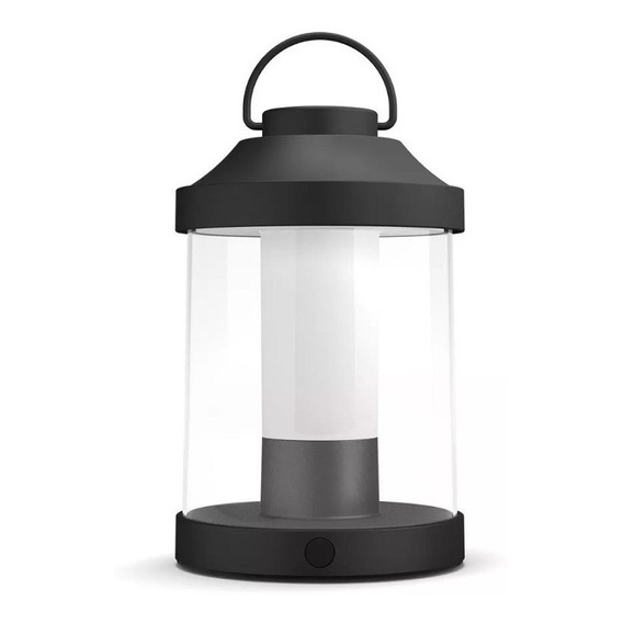 Farol Led Portatil Philips Abelia Dimerizable Negro