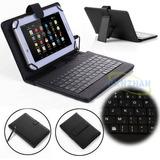 7 -8 Android Tablet Universal Usb Micro Teclado Flip Pu