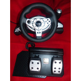 Volante Timon Y Pedales Pc Ps2 Ps3 Xbox Gc Gamemon